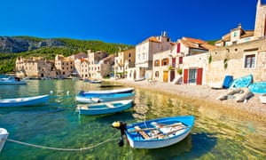 Scenic beach in Koiza waterfront, Island of Vis, Croatia