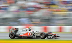 Button goes flat out in his 2011 McLaren