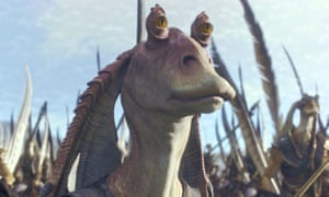 Jar Jar Binks in Star Wars Episode I - The Phantom Menace.