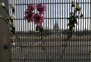 The US Capitol is seen through high levels of security as Donald Trump's second impeachment trial begins.