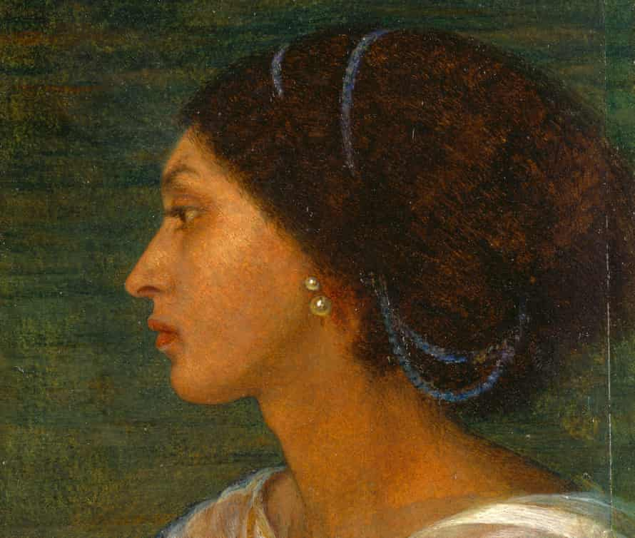 A detail from Head of a Mulatto Woman by Joanna Wells, with Fanny Eaton as the model.