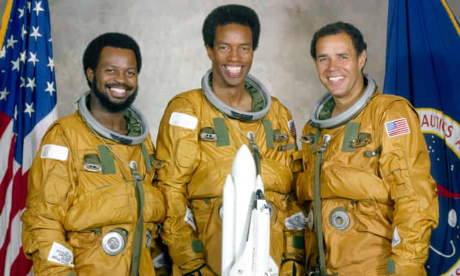 Ronald McNair, Guion Bluford and Frederick Gregory