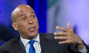 Cory Booker said: 'I want people to see where we are and understand that we have a pathway to victory, but I can't walk it alone.'