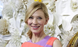 "Actress Cate Blanchett at the Australian premiere of Disney's ""Cinderella"" at the State Theatre in Sydney, March 15, 2015. (AAP Image/Jane Dempster) NO ARCHIVING"