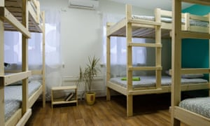 A dorm room at Vozduh hostel, Vladimir, Russia
