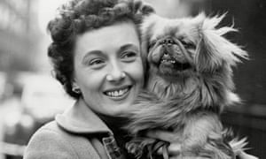 Pearl Carr with her dog Sammy in 1953