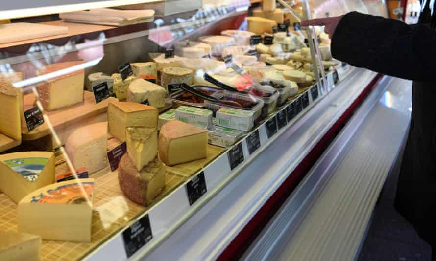 a cheese counter at a Berlin market