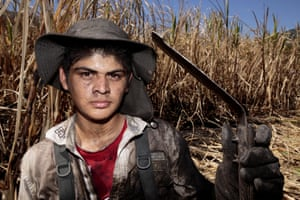 A young sugarcane worker outside of El Suchitoto, El Salvador. Chronic Kidney Disease of nontraditional causes is a global epidemic attacking the world's sugarcane workers, killing more people in Nicaragua and El Salvador than HIV/AIDS, diabetes and leukemia combined.