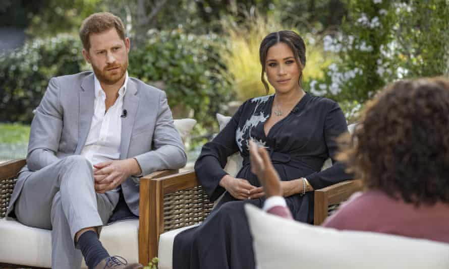 Harry and Meghan in conversation with Oprah Winfrey for the CBS interview