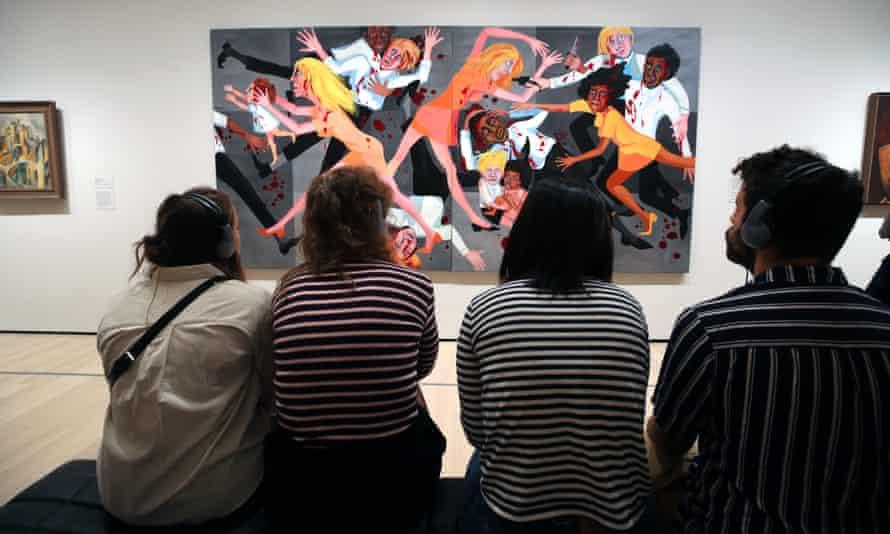 Visitors at MoMA
