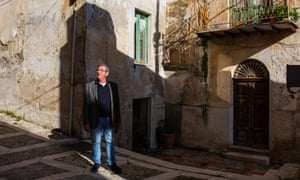 """""""The world is changing."""" Rosario Buttaci on the streets of the village in which he was born and raised."""
