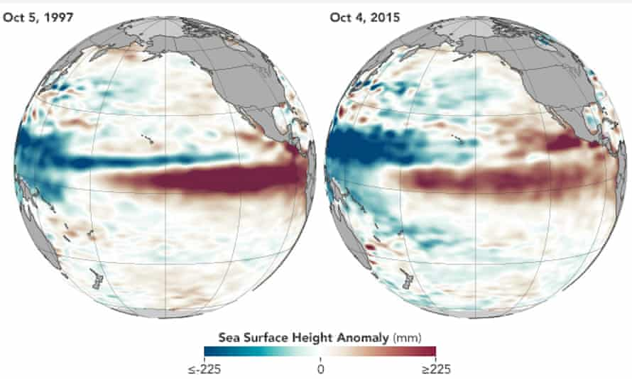 Analyses from Noaa and Nasa confirm that El Niño is strengthening and that it looks a lot like the strong event that occurred in 1997–98