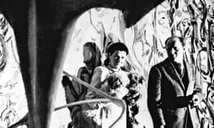 Patron and painter … Peggy Guggenheim and Jackson Pollock in front of Mural in 1943.