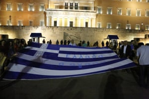 Protests against austerity measures in Athens, Greece
