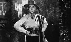 Smokin' … Rudolph Valentino in The Four Horsemen of the Apocalypse.