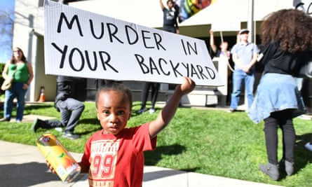 the hashtag #blacklivesmatter turned a moral given into a societal juggernaut' ... Jayceon Hurtz, 2, holds a sign at a Black Lives Matter protest in California, March 2018.