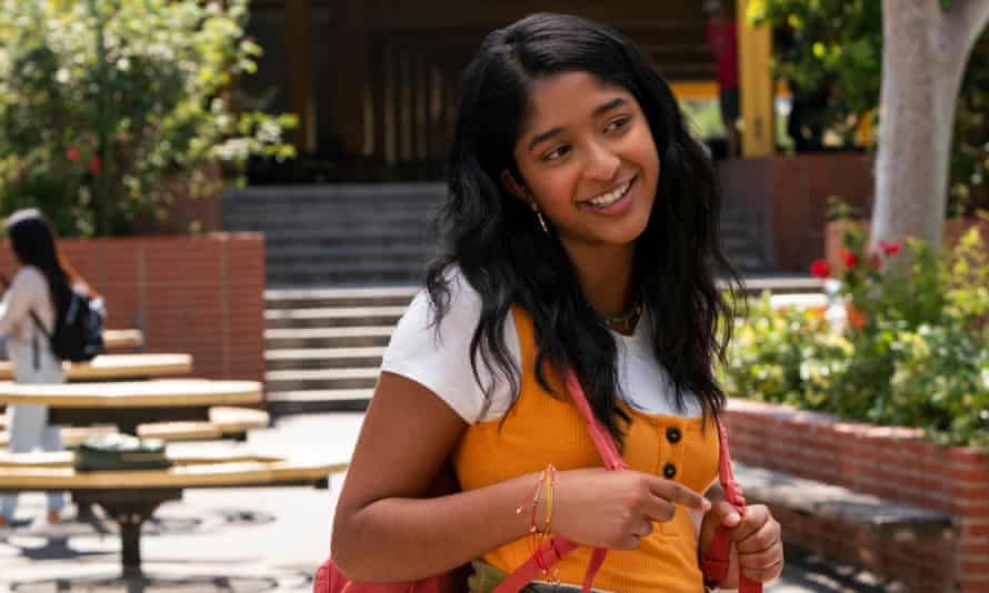 Maitreyi Ramakrishnan in Never Have I Ever, a show that offers a moving and original portrait of a teenage girl grappling with grief.