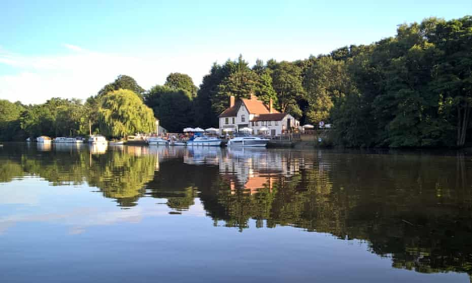 Broadside … the Water's Edge pub has a view over the Norfolk Broads