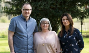 Presenter Susanna Reid with Rhys's parents, Steve and Mel Jones