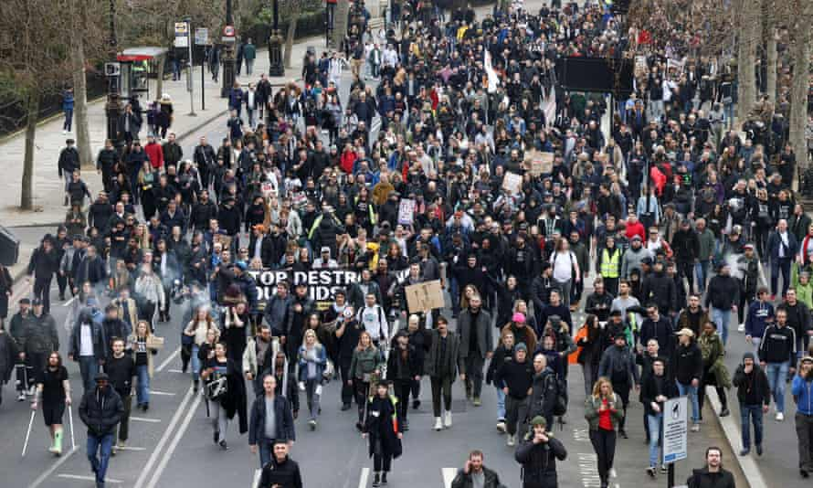 Anti-lockdown march through London