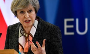Theresa May faces questions during the EU summit in Brussels last week.