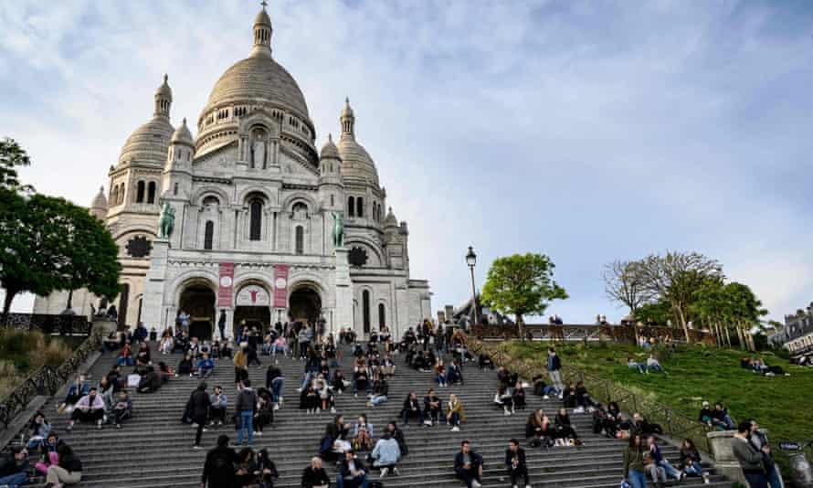 The Sacre Coeur basilica, Montmartre.