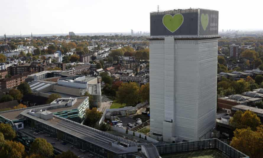 Grenfell Tower, covered