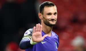 Hugo Lloris reacts following Tottenham's victory over Manchester United on Monday.