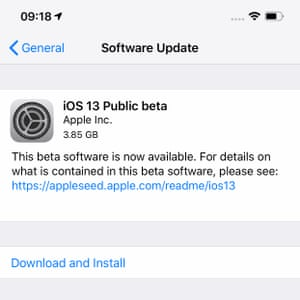 iOS 13 Public beta download now available for various newer iPhones.