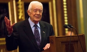 Jimmy Carter in 2016. He and his wife, 92-year-old Rosalynn, recently became the longest-married first couple.