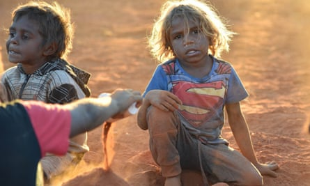 Children from Mutitjulu play during the convention's opening ceremony on 23 May.