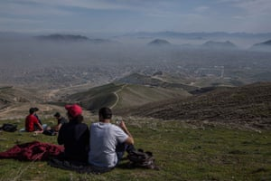 Kabul residents take to the otherwise deserted hills