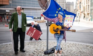 Madeleina Kay protesting in Brussels, April 2019