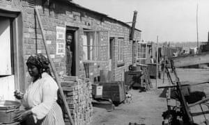 A row of 'ticky-tacky' houses in Sophiatown, where black and white South Africans once lived side-by-side.