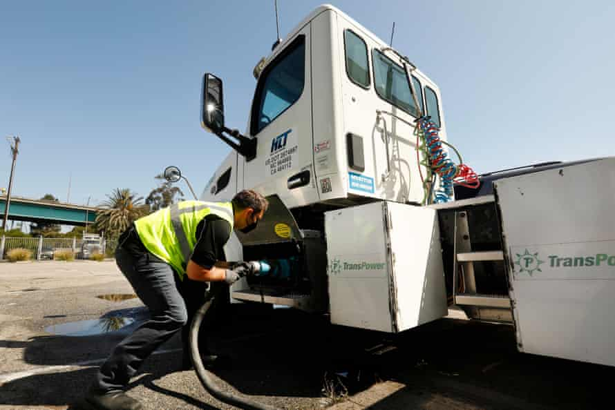 Total Transportation Services Inc. has one electric truck in its fleet at the Port of Los Angeles.