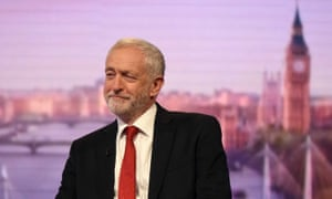 Labour leader Jeremy Corbyn appearing on the Andrew Marr Show