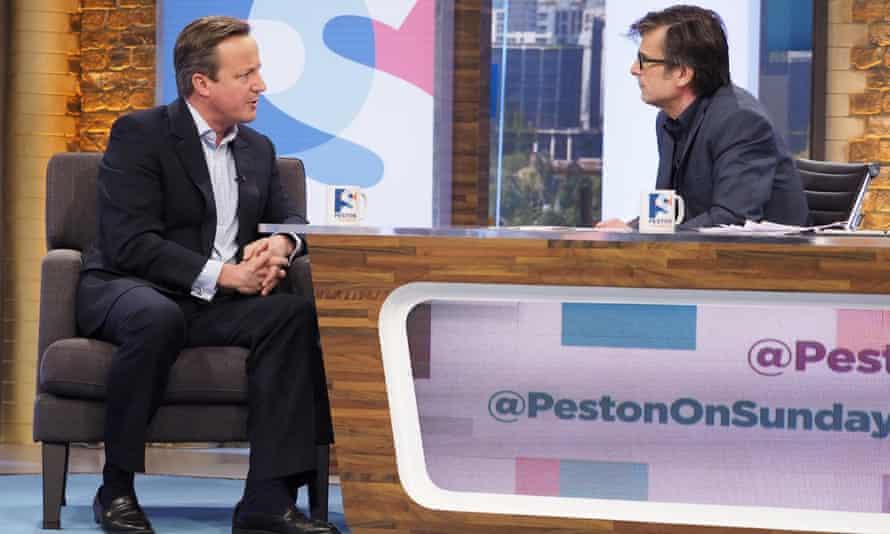David Cameron and Robert Peston