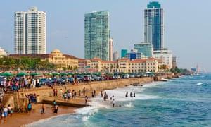 Sri Lanka, Colombo, Galle Face Beach on a Sunday
