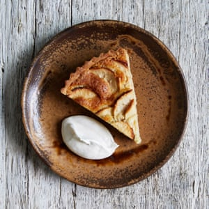 James Rich's apple and almond tart with cider brandy cream.