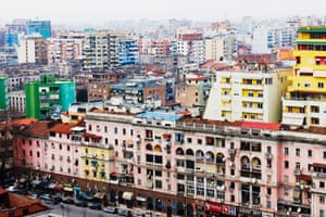 Apartment blocks. Tirana, Albania