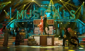 Ashley and Pasha dance on Strictly Musicals Week