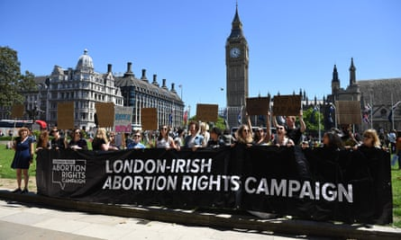 London Irish abortion rights campaigners in London on 10 June.
