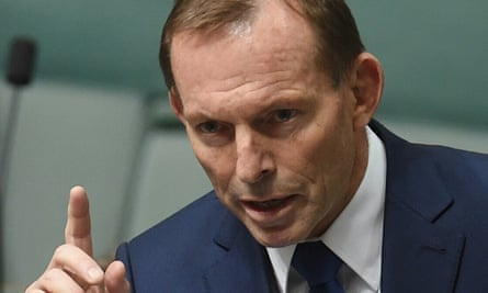 Tony Abbott at question time on Thursday