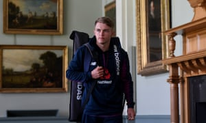 Sam Curran walks through the Long Room at Lord's. England's final selection decision seems to be whether to play the Surrey left-armer instead of either Joe Denly or Jack Leach.