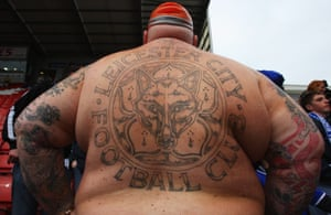 A Leicester fan look turns his back on the players in May 2008, after a draw against Stoke City saw them relegated to League One.