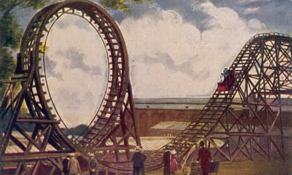 The 'Topsy-Turvy' Railway at the Crystal Palace, circa 1905.