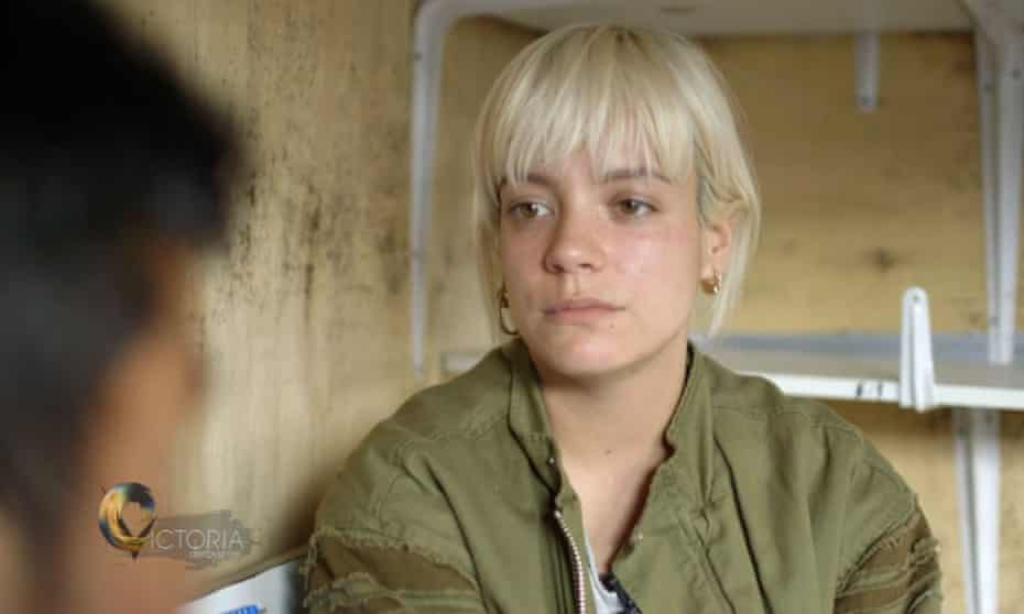 Lily Allen meeting a 13-year-old boy from Afghanistan in Calais