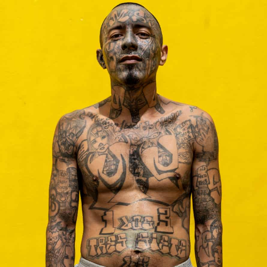 Juan, 31, stands for a portrait at the Chalatenango penal centre