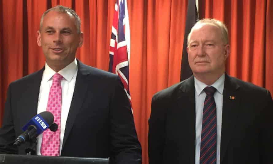 Peter Styles, the Northern Territory deputy chief minister, right, with the chief minister, Adam Giles.