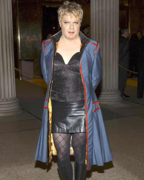 Izzard at the opening of the Bravehearts: Men in Skirts exhibition in New York City, 2003.